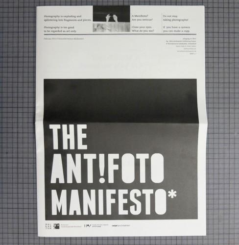 The ANT!FOTO-Manifesto.
